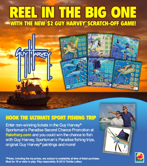 New GUY HARVEY® Florida Lottery Scratch-Off Game Debuts Today